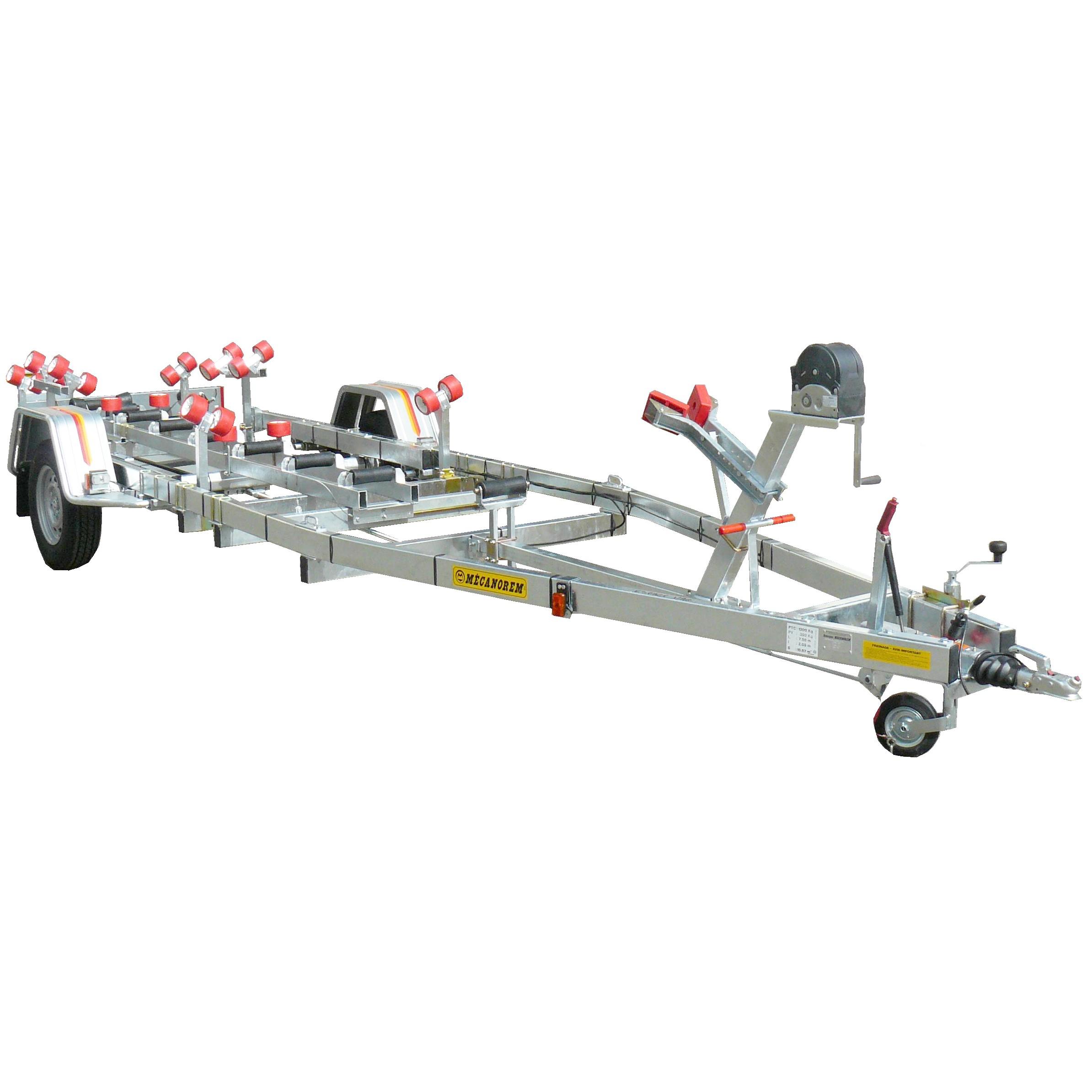Remorque Bateau MTX 851 F 7.30m CU 810kg